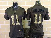 women  nfl New England Patriots #11 Julian Edelman green salute to service limited jersey