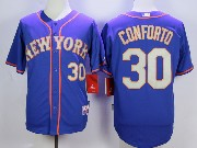Mens Mlb New York Mets #30 Conforto Blue (gray Number) Jersey