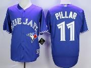 Mens Mlb Toronto Blue Jays #11 Pillar Blue Jersey