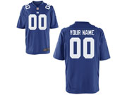 Mens Womens Youth Nfl New York Giants (custom Made) Blue Game Jersey