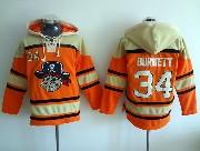 Mens Mlb Pittsburgh Pirates #34 Burnett Orange Hoodie Jersey