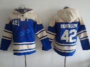 Mens Mlb Los Angeles Dodgers #42 Robinson Blue Hoodie Jersey