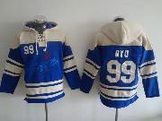 Mens Mlb Los Angeles Dodgers #99 Ryu Blue Hoodie Jersey
