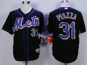 Mens Mlb New York Mets #31 Piazza Black Jersey
