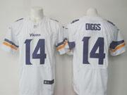 Mens Nfl Minnesota Vikings #14 Stefon Diggs White (2013) Elite Jersey