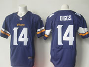 Mens Nfl Minnesota Vikings #14 Stefon Diggs Purple (2013) Elite Jersey