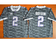 Mens Ncaa Nfl Tcu Horned Frogs #2 Boykin Gray Jersey