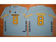 Mens Ncaa Nfl Arizona State Sun Devils #8 Foster Gray Jersey