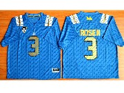 Mens Ncaa Nfl Ucla Bruins #3 Rosen Light Blue Jersey