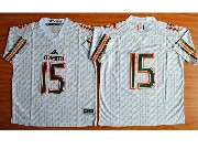 Mens Ncaa Nfl Miami Hurricanes Custom Made White Jersey