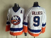 Mens nhl new york islanders #9 gillies white throwbacks Jersey
