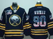 Mens Reebok Nhl Buffalo Sabres #90 Ryan O'reilly Dark Blue (usa Flag Fashion) Jersey(sn)