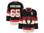 Mens Reebok Ottawa Senators #65 Erik Karlsson Black Alternate Premier Jersey
