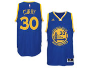 Mens Adidas Golden State Warriors #30 Stephen Curry Blue Swingman Road Jersey