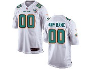 Youth Nfl Miami Dolphins (custom Made) White Game Jersey