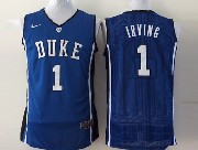 Mens Ncaa Nba Duke Blue Devils #1 Irving Blue Jersey Sn