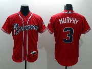 mens majestic atlanta braves #3 dale murphy red Flex Base jersey