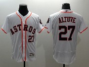 mens majestic houston astros #27 jose altuve white Flex Base jersey