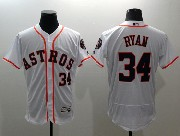 mens majestic houston astros #34 nolan ryan white Flex Base jersey
