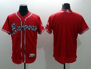 mens majestic atlanta braves blank red Flex Base jersey