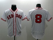 mens majestic boston red sox #8 carl yastzremski white Flex Base jersey