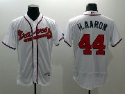 mens majestic atlanta braves #44 hank aaron white Flex Base jersey