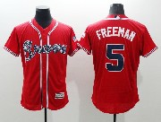 mens majestic atlanta braves #5 freddie freeman red Flex Base jersey