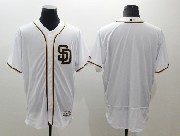 mens majestic mlb san diego padres blank white Flex Base jersey