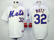 Mens mlb new york mets #32 matz white (blue stripe) Jersey