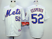 Mens mlb new york mets #52 cespedes white (blue strip) Jersey