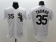 mens majestic chicago white sox #35 frank thomas white stripe Flex Base jersey