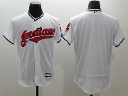 mens majestic cleveland indians blank white Flex Base jersey