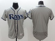 mens majestic tampa bay rays blank gray Flex Base jersey