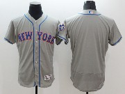 mens majestic new york mets blank gray Flex Base jersey
