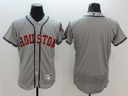 mens majestic houston astros blank gray Flex Base jersey