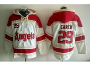 Mens Mlb Los Angeles Angels #29 Rod Carew White Hoodie Jersey