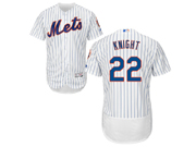 mens majestic new york mets #22 ray knight white stripe Flex Base jersey
