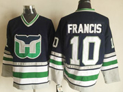 Mens Nhl Hartford Whalers #10 Francis Navy New Throwbacks Jersey