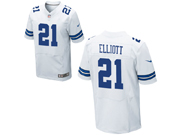 Mens Nfl Dallas Cowboys #21 Ezekiel Elliott White Elite Jersey