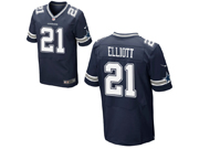 Mens Nfl Dallas Cowboys #21 Ezekiel Elliott Blue Elite Jersey