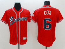 mens majestic atlanta braves #6 bobby cox red Flex Base jersey