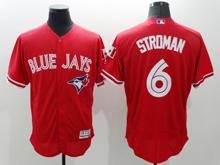 mens majestic toronto blue jays #6 marcus stroman red Flex Base jersey