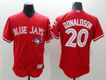 mens majestic toronto blue jays #20 josh donaldson red Flex Base jersey