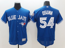 mens majestic toronto blue jays #54 roberto osuna blue Flex Base jersey