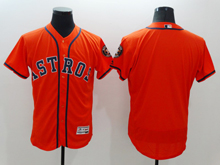 mens majestic houston astros blank orange Flex Base jersey