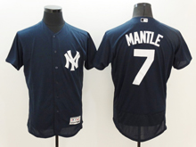 mens majestic new york yankees #7 mickey mantle dark blue Flex Base jersey
