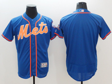 mens majestic new york mets blank blue Flex Base jersey