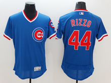 mens majestic chicago cubs #44 anthony rizzo blue pullover Flex Base jersey