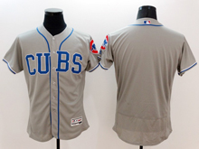 Mens Majestic Chicago Cubs Blank Cubs Gray Flex Base Jersey