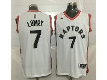 Mens Nba Toronto Raptors #7 Kyle Lowry White Jersey